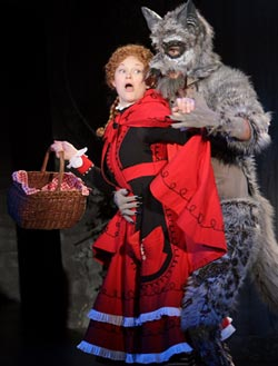 Lauren Williams as Little Red Riding Hood, James Moye as the Wolf