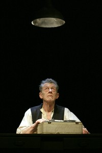 John Hurt, Krapp's Last Tape, photo by Anthony Woods